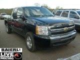 2009 Black Chevrolet Silverado 1500 LT Extended Cab 4x4 #48663052