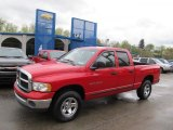 2002 Flame Red Dodge Ram 1500 SLT Quad Cab 4x4 #48663306