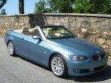 2008 Atlantic Blue Metallic BMW 3 Series 328i Convertible #48663316
