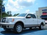 2011 White Platinum Metallic Tri-Coat Ford F150 Lariat SuperCab #48663335