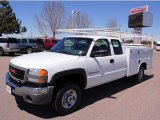 2007 Summit White GMC Sierra 2500HD Classic Extended Cab 4x4 Utility Truck #48663535