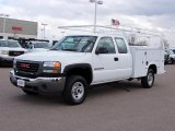2007 Summit White GMC Sierra 2500HD Classic Extended Cab 4x4 Utility Truck #48663536