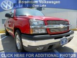 2005 Victory Red Chevrolet Silverado 1500 LS Extended Cab #48664027