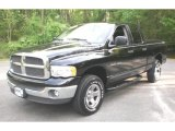 2002 Black Dodge Ram 1500 SLT Quad Cab 4x4 #48663818