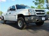 2005 Summit White Chevrolet Silverado 1500 LS Crew Cab 4x4 #48731720