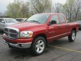 2006 Flame Red Dodge Ram 1500 SLT Quad Cab 4x4 #48770642