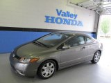 2006 Galaxy Gray Metallic Honda Civic LX Coupe #48770153
