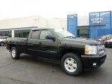 2007 Black Chevrolet Silverado 1500 LT Extended Cab 4x4 #48770295