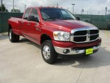2007 Inferno Red Crystal Pearl Dodge Ram 3500 Big Horn Quad Cab 4x4 Dually #48770360
