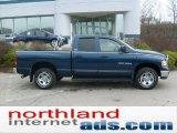 2002 Patriot Blue Pearlcoat Dodge Ram 1500 ST Quad Cab 4x4 #48814436