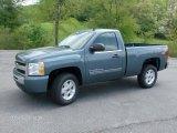 2011 Blue Granite Metallic Chevrolet Silverado 1500 LT Regular Cab 4x4 #48814919