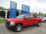 2011 Victory Red Chevrolet Silverado 1500 LS Extended Cab 4x4 #48814504