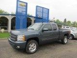 2011 Blue Granite Metallic Chevrolet Silverado 1500 LT Extended Cab 4x4 #48814506