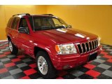 2002 Inferno Red Tinted Pearlcoat Jeep Grand Cherokee Limited 4x4 #48814804