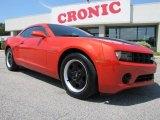 2010 Inferno Orange Metallic Chevrolet Camaro LS Coupe #48814580