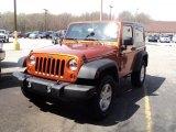 2011 Mango Tango Pearl Jeep Wrangler Sport S 4x4 #48814899