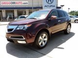 2011 Dark Cherry Pearl Acura MDX Technology #48866834