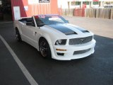 Performance White Ford Mustang in 2006