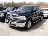 2011 Hunter Green Pearl Dodge Ram 1500 SLT Quad Cab 4x4 #48867036