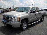 2009 Silver Birch Metallic Chevrolet Silverado 1500 LS Crew Cab #48867085