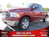 2011 Deep Cherry Red Crystal Pearl Dodge Ram 1500 Big Horn Quad Cab 4x4 #48866732
