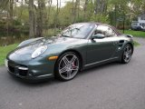 2008 Malachite Green Metallic Porsche 911 Turbo Cabriolet #48866552
