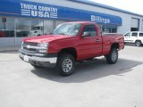 2005 Victory Red Chevrolet Silverado 1500 LS Regular Cab 4x4 #48866999