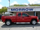 2007 Victory Red Chevrolet Silverado 1500 LT Extended Cab 4x4 #48924992