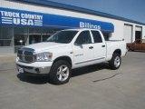2007 Bright White Dodge Ram 1500 Big Horn Edition Quad Cab 4x4 #48925315