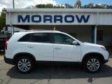 2011 Snow White Pearl Kia Sorento LX V6 AWD #48924996