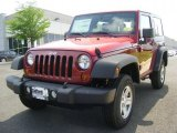 2011 Deep Cherry Red Crystal Pearl Jeep Wrangler Sport 4x4 #48925342