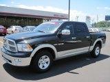 2010 Brilliant Black Crystal Pearl Dodge Ram 1500 Laramie Crew Cab #48925188
