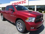 2011 Deep Cherry Red Crystal Pearl Dodge Ram 1500 Sport Crew Cab #48981036