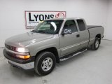 2002 Light Pewter Metallic Chevrolet Silverado 1500 LS Extended Cab 4x4 #48980454