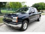 2005 Dark Blue Metallic Chevrolet Silverado 1500 Z71 Extended Cab 4x4 #48981047
