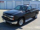 2007 Black Chevrolet Silverado 1500 Classic Work Truck Regular Cab #48981455