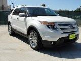 2011 White Platinum Tri-Coat Ford Explorer Limited #48981073