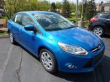 2012 Blue Candy Metallic Ford Focus SE Sedan #48980907