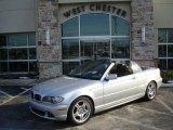 2004 Titanium Silver Metallic BMW 3 Series 330i Convertible #4898458