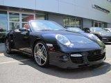 2008 Midnight Blue Metallic Porsche 911 Turbo Cabriolet #48981383