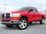 2006 Flame Red Dodge Ram 1500 Big Horn Edition Quad Cab 4x4 #4886851