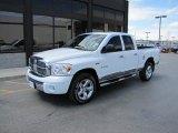 2008 Bright White Dodge Ram 1500 Laramie Quad Cab 4x4 #49051092