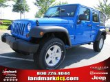 2011 Cosmos Blue Jeep Wrangler Unlimited Sport 4x4 #49050890
