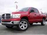 2007 Inferno Red Crystal Pearl Dodge Ram 1500 SLT Quad Cab 4x4 #4886852