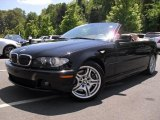 2004 Jet Black BMW 3 Series 330i Convertible #49051101