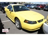 2003 Zinc Yellow Ford Mustang V6 Convertible #49090601