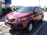 2011 Spicy Red Kia Sorento LX AWD #49091137