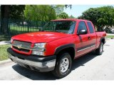 2004 Victory Red Chevrolet Silverado 1500 LS Extended Cab 4x4 #49090772