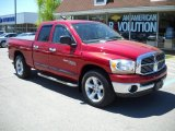 2006 Inferno Red Crystal Pearl Dodge Ram 1500 SLT Quad Cab #49090777