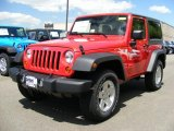 2011 Flame Red Jeep Wrangler Sport S 4x4 #49091027